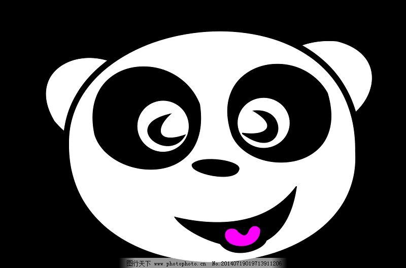快乐熊猫脸免费下载 动物园 生物 微笑 熊猫 熊猫 动物的脸 生物 滑稽