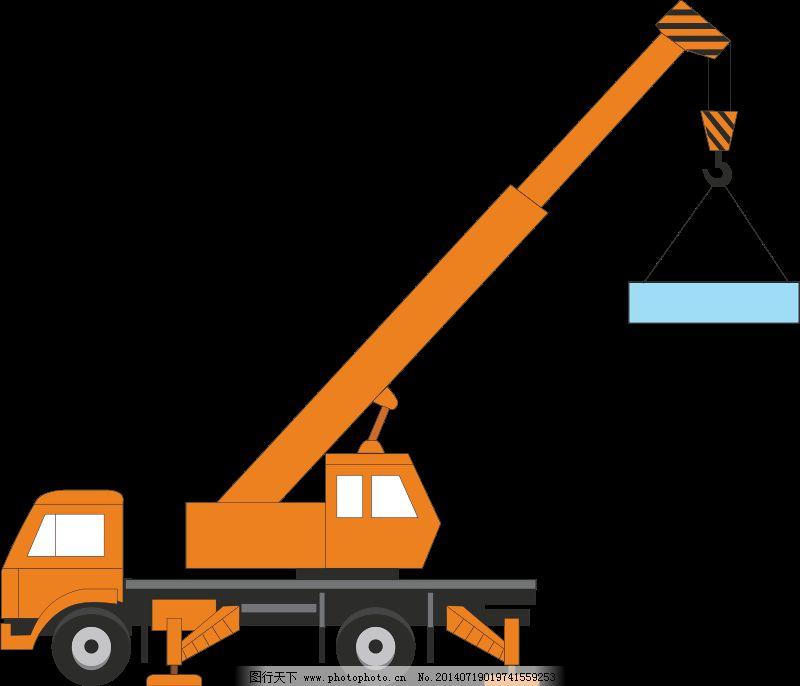 起重机免费下载 起重机 汽车 运输 汽车 起重机   运输 图片素材 插