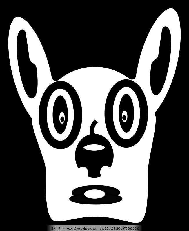 卡通狗脸免费下载 动物 狗 卡通 动物 卡通 狗 图片素材 插画集