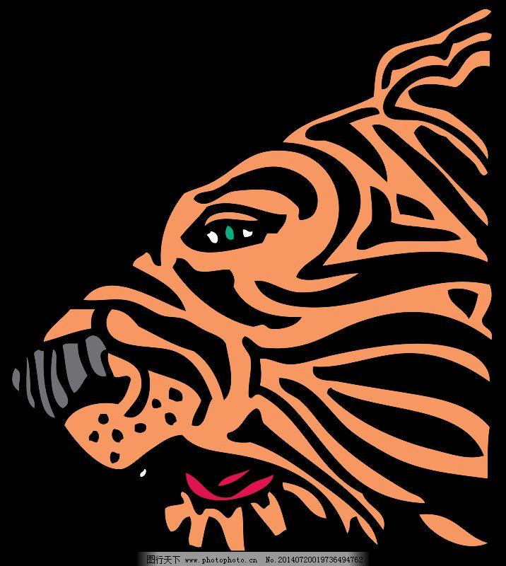 动物 老虎 猫 头 动物 externalsource 猫 头 老虎 图片素材 插画集