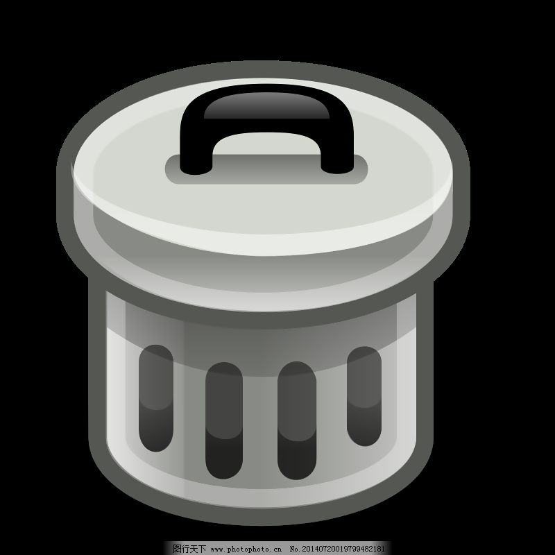 垃圾桶免费下载 标志 金属 可以 垃圾 轮廓 图标 循环 颜色 桌面 仓