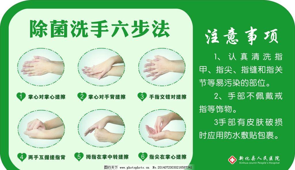 医务人员六步洗手法图片