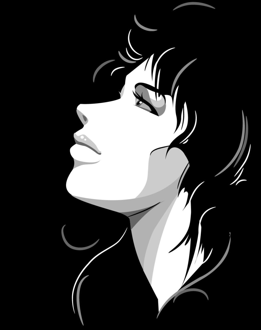 平面设计黑白人物画