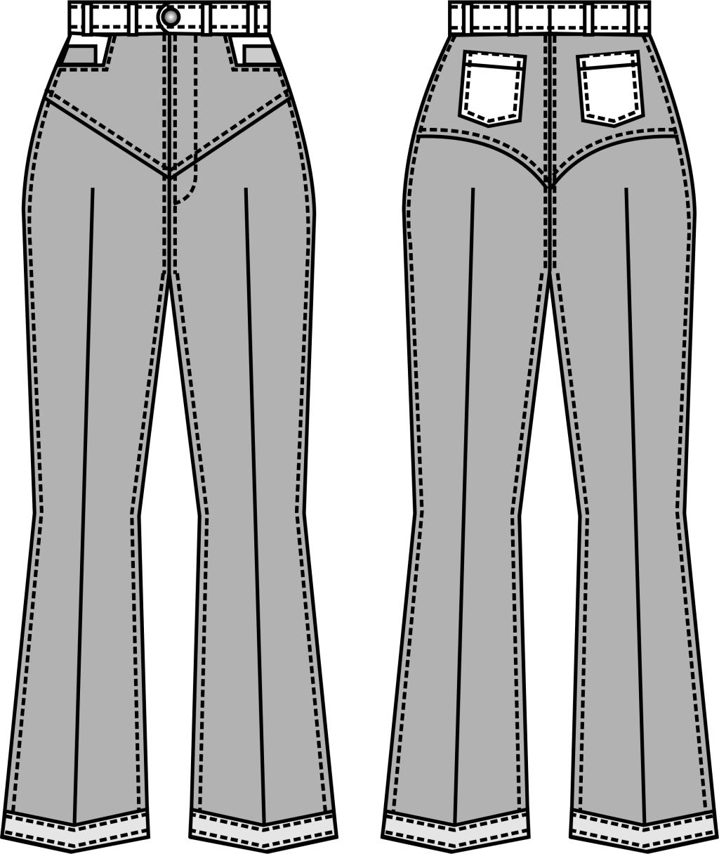 牛仔服装设计图