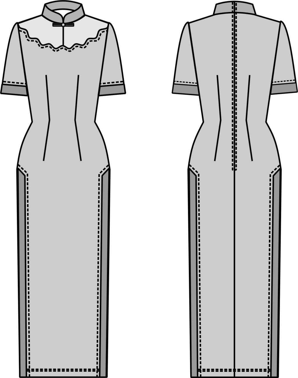 废旧物品手工制作旗袍