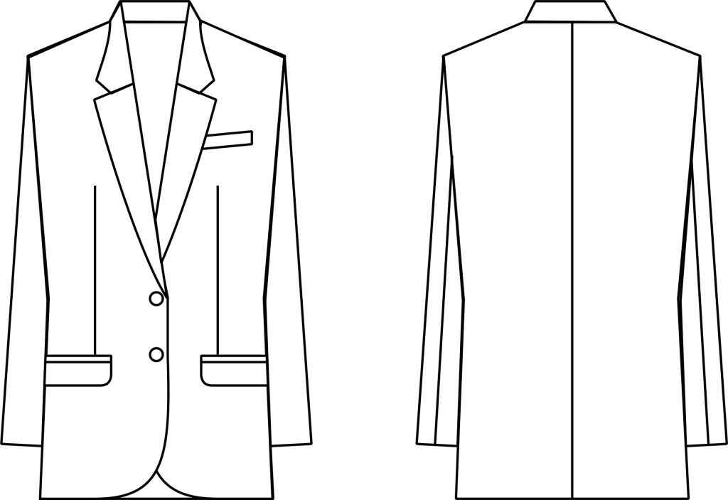 男西装款式图图片