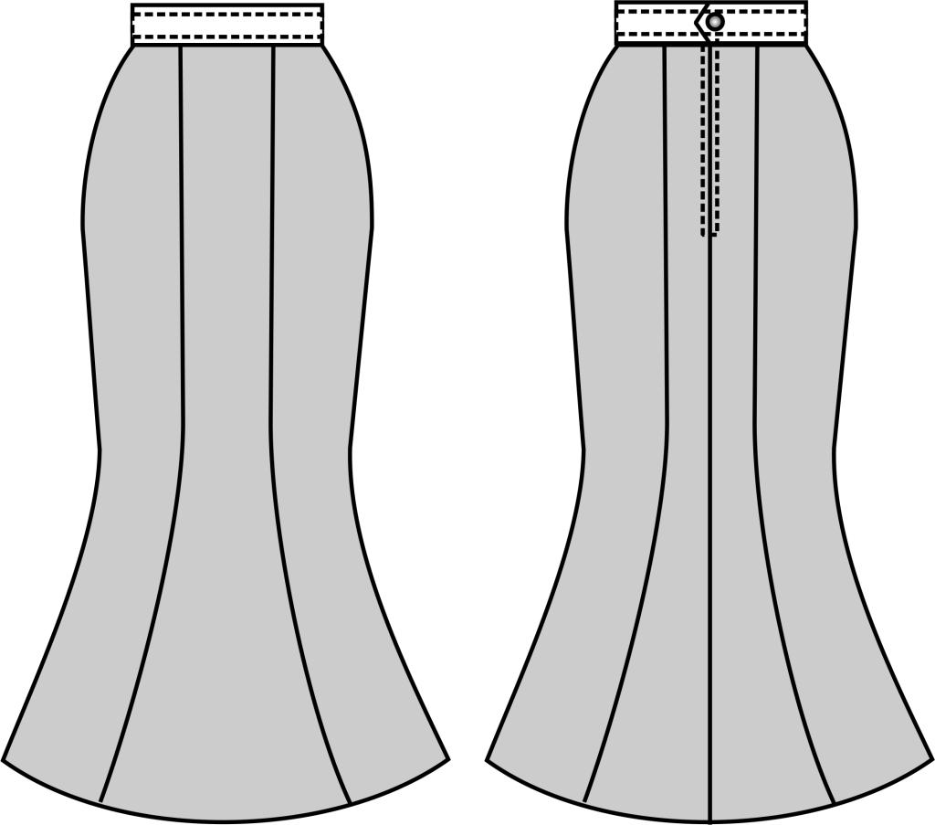 服装设计图鱼尾