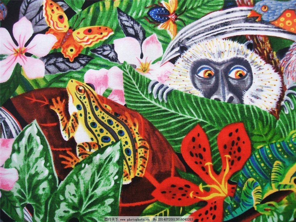 位图 风格 热带雨林 免费素材