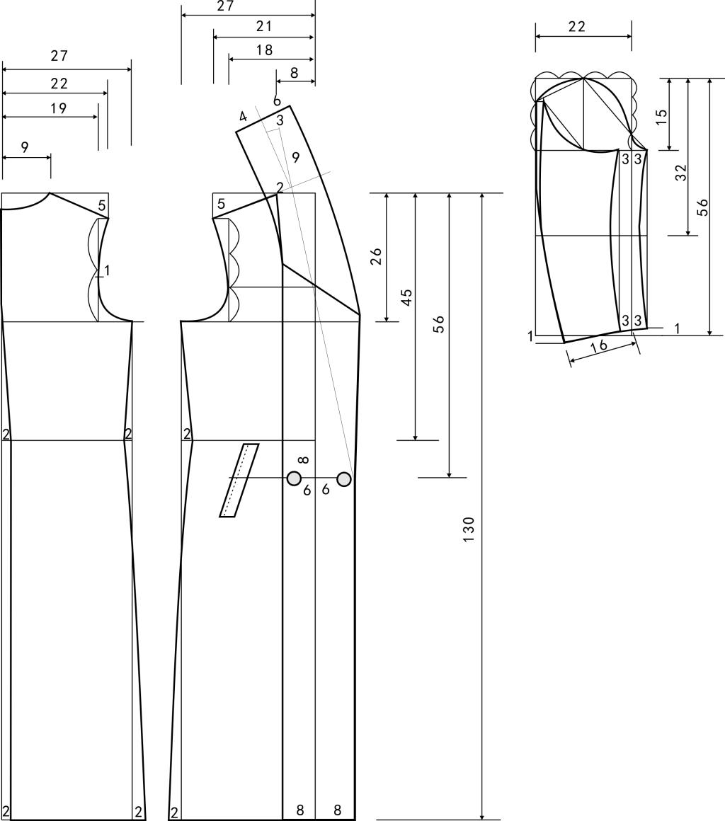 女大衣裁剪图免费下载      时装 女大衣裁剪图      时装 服装设计