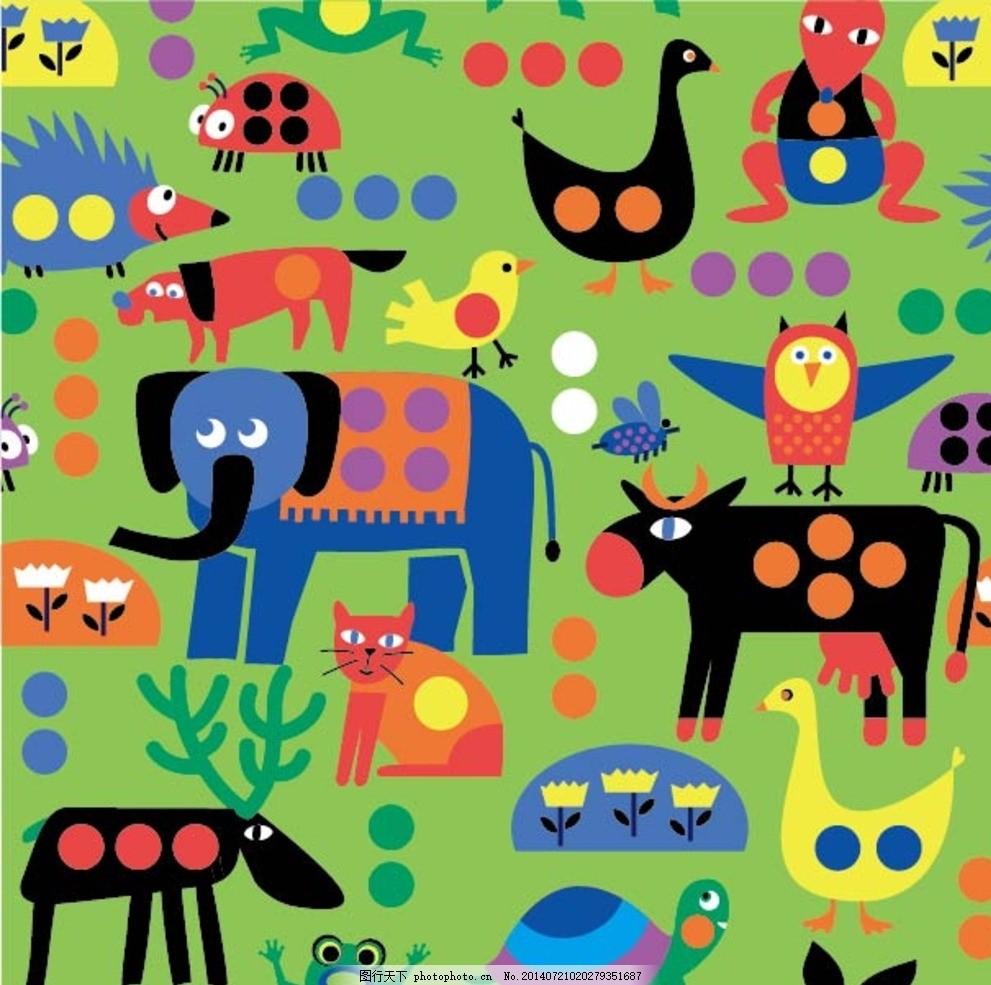 大象儿童树叶画
