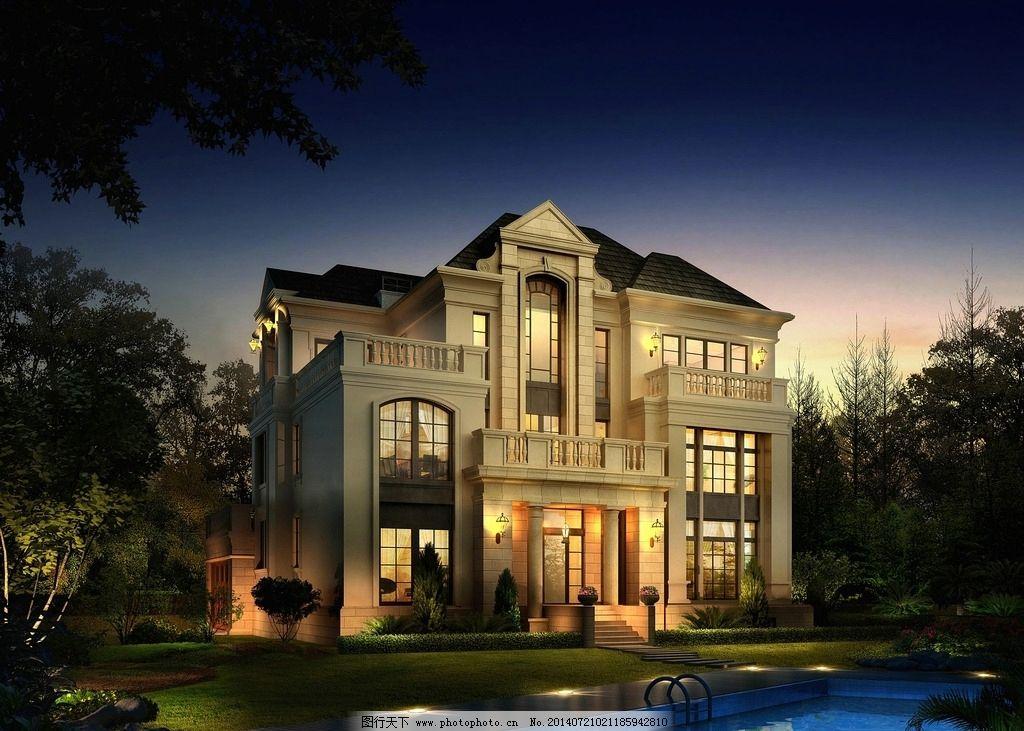 别墅 模型        欧式 豪华 3d作品 3d设计 设计 72dpi jpg