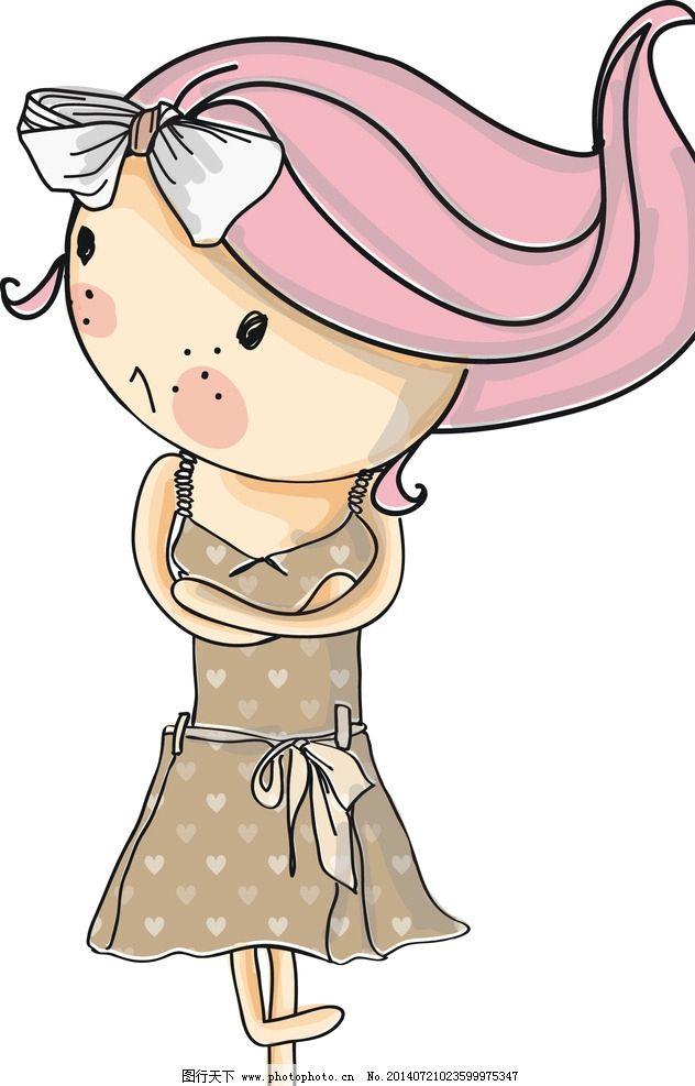 卡通小女孩 卡通 小女孩