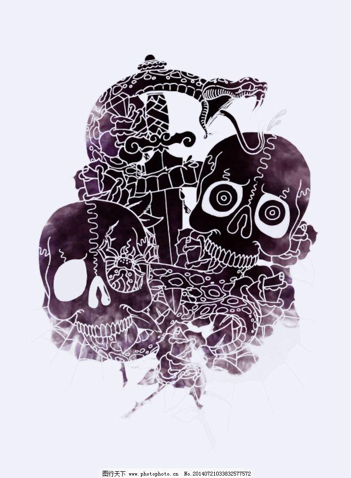 骷髅头 潮流 中性 趣味 手绘 图片素材 其他 设计 eps