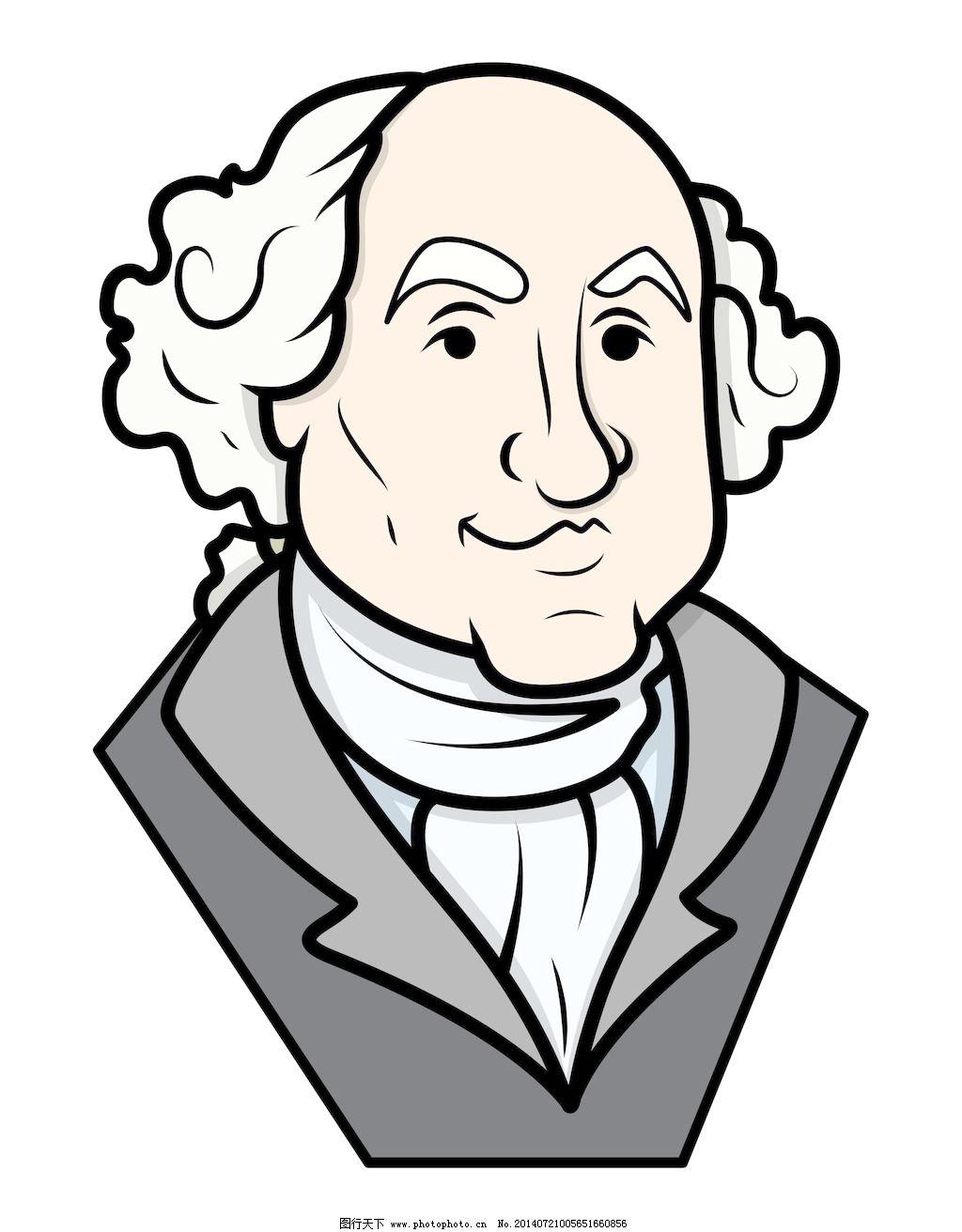 华盛顿 乔治/乔治华盛顿矢量剪贴画
