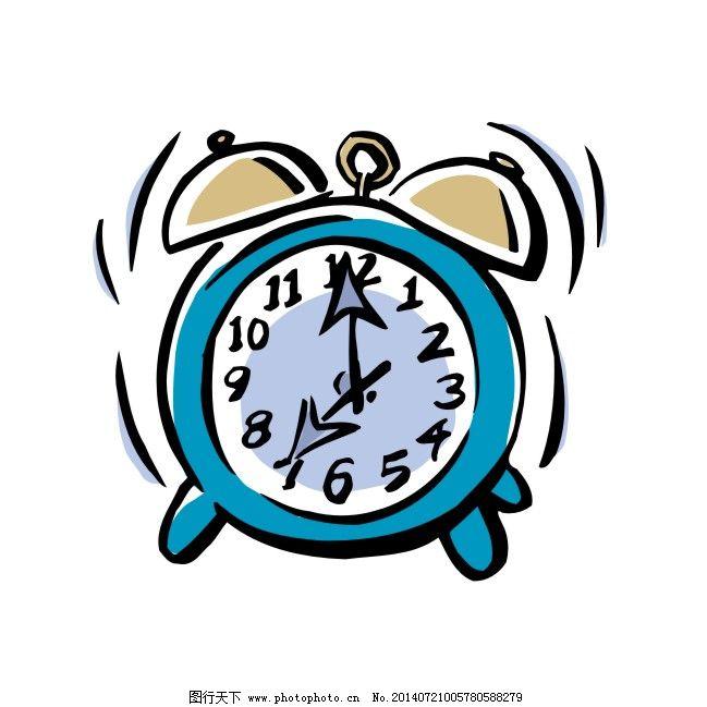 矢量闹钟免费下载 卡通 蓝色 闹钟 手绘 蓝色 卡通 闹钟 手绘 矢量图