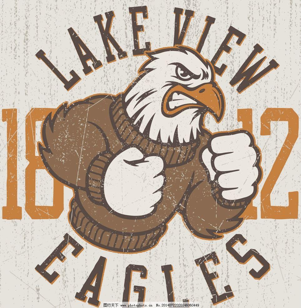 t恤设计纹身图案 老鹰 拳击 服装设计 欧美花纹 欧式花纹 哥特风格