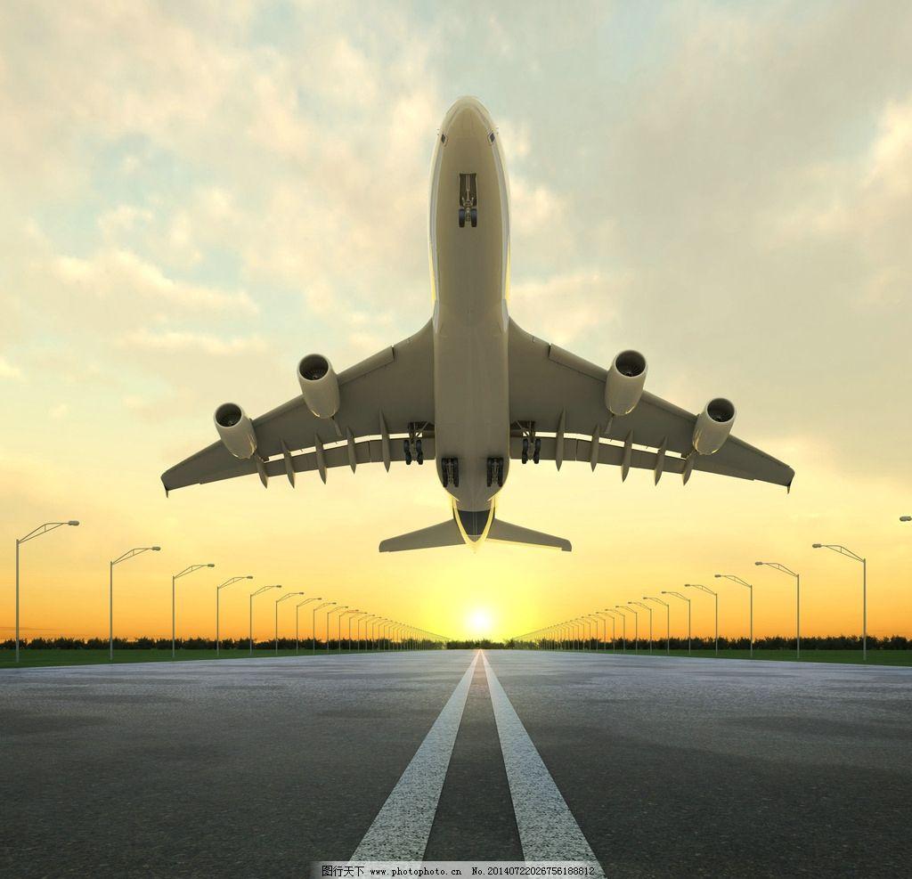 飞机起飞 飞机 客机 跑道