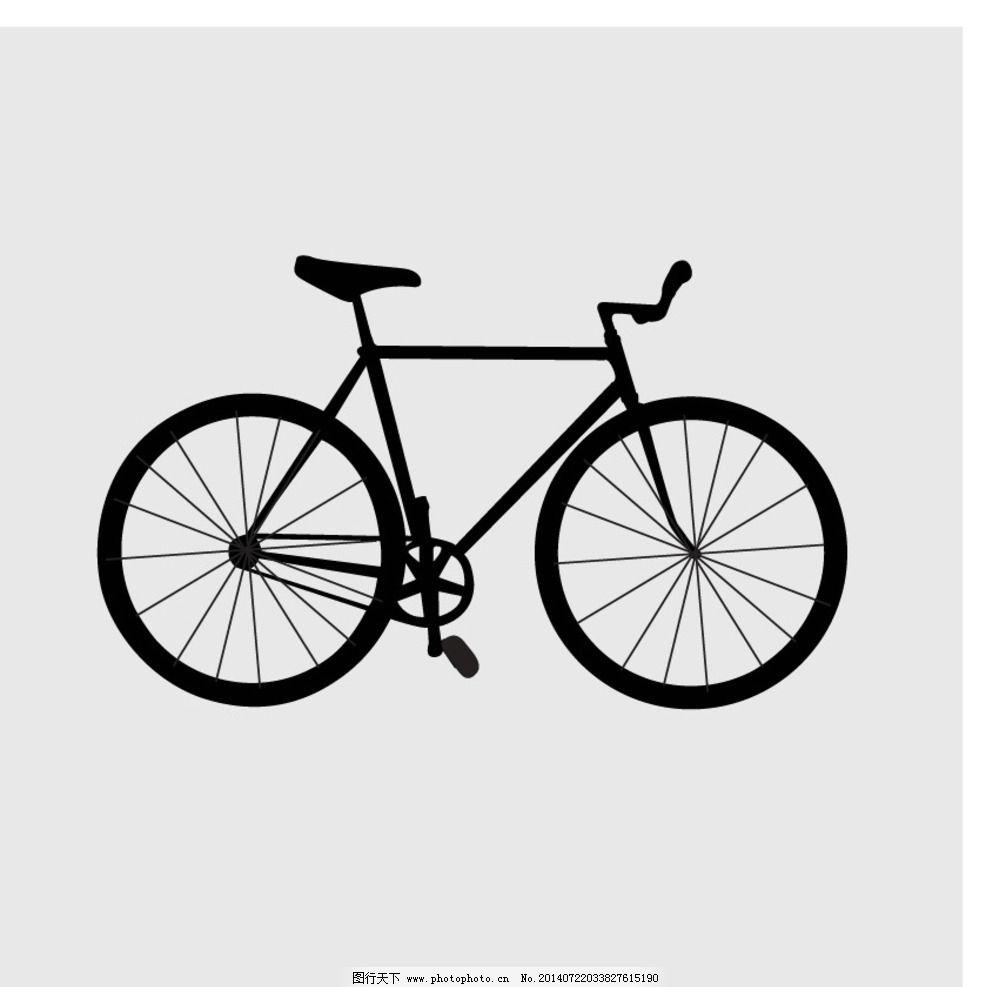自行车 手绘 线稿 黑色