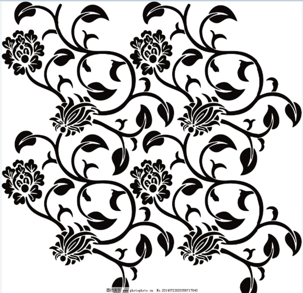 涂料印花丝网模具图案 涂料 印花 丝网 模具 黑白 图案 花边花纹 底纹