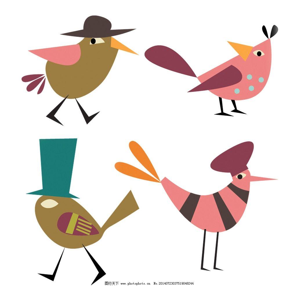 psd矢量卡通可爱小鸟图片
