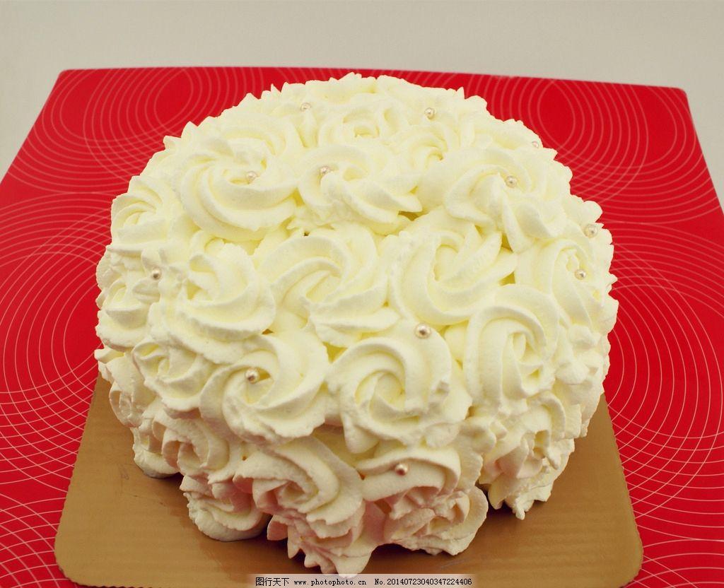 鲜奶蛋糕 鲜奶 蛋糕 裱花 奶油 西点 西餐美食 餐饮美食 摄影 72dpi