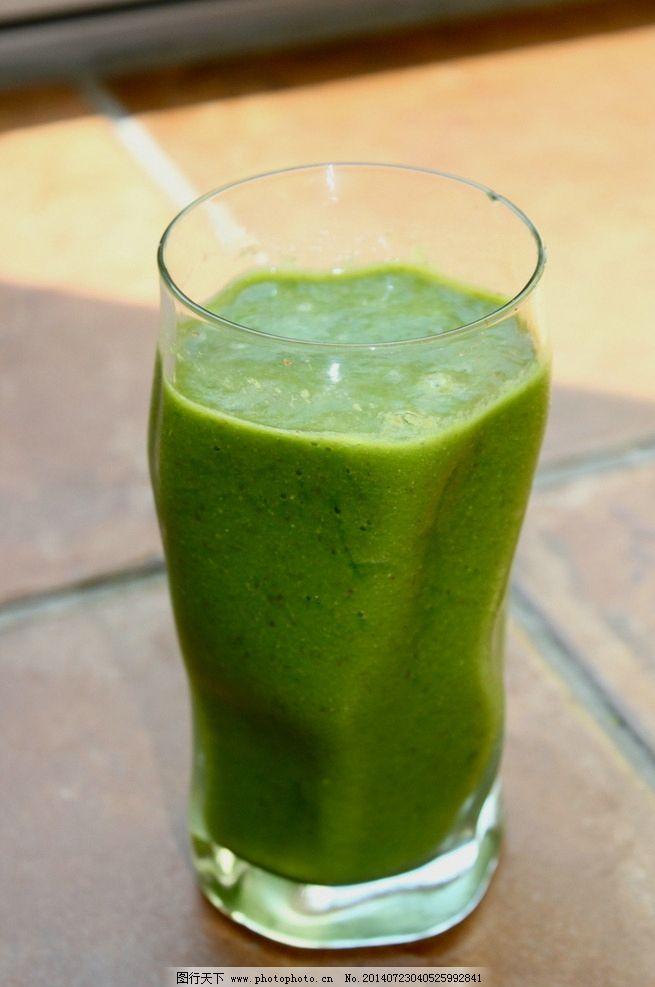 苹果奇异果汁_果汁 杯子 绿色 青苹果 饮料 饮料酒水 餐饮美食 摄影 72dpi jpg