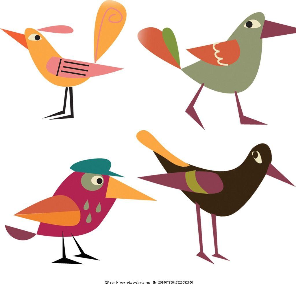矢量psd可爱小鸟图片