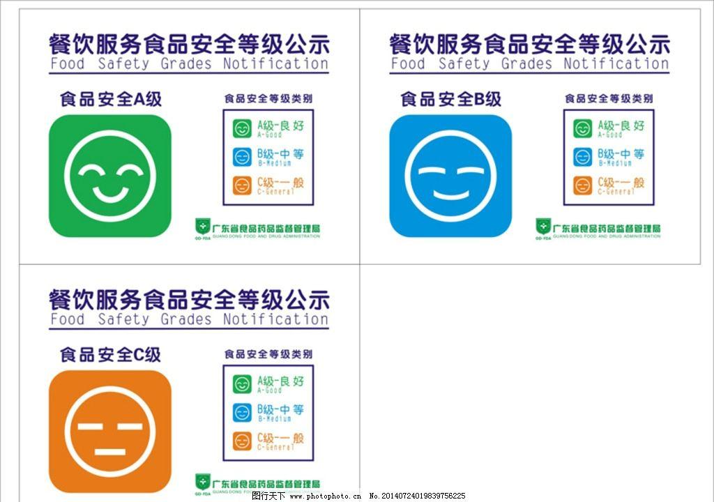 餐饮服务 食品安全 等级公示 食品药品监督 牌 公共标识标志 标志图标图片
