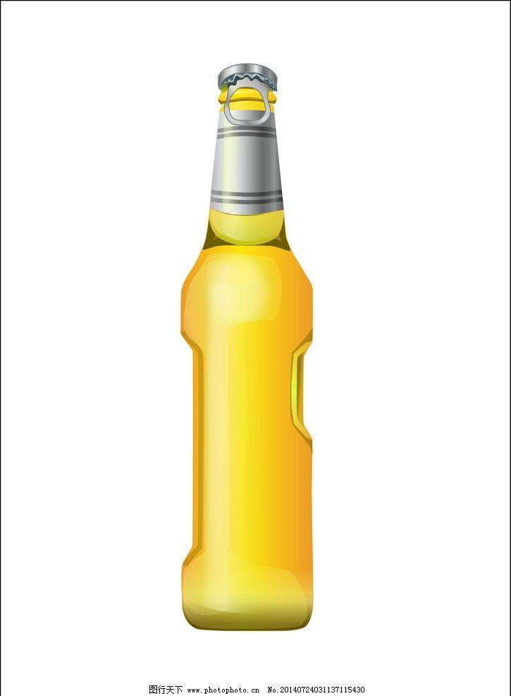 啤酒饮料瓶体设计图片