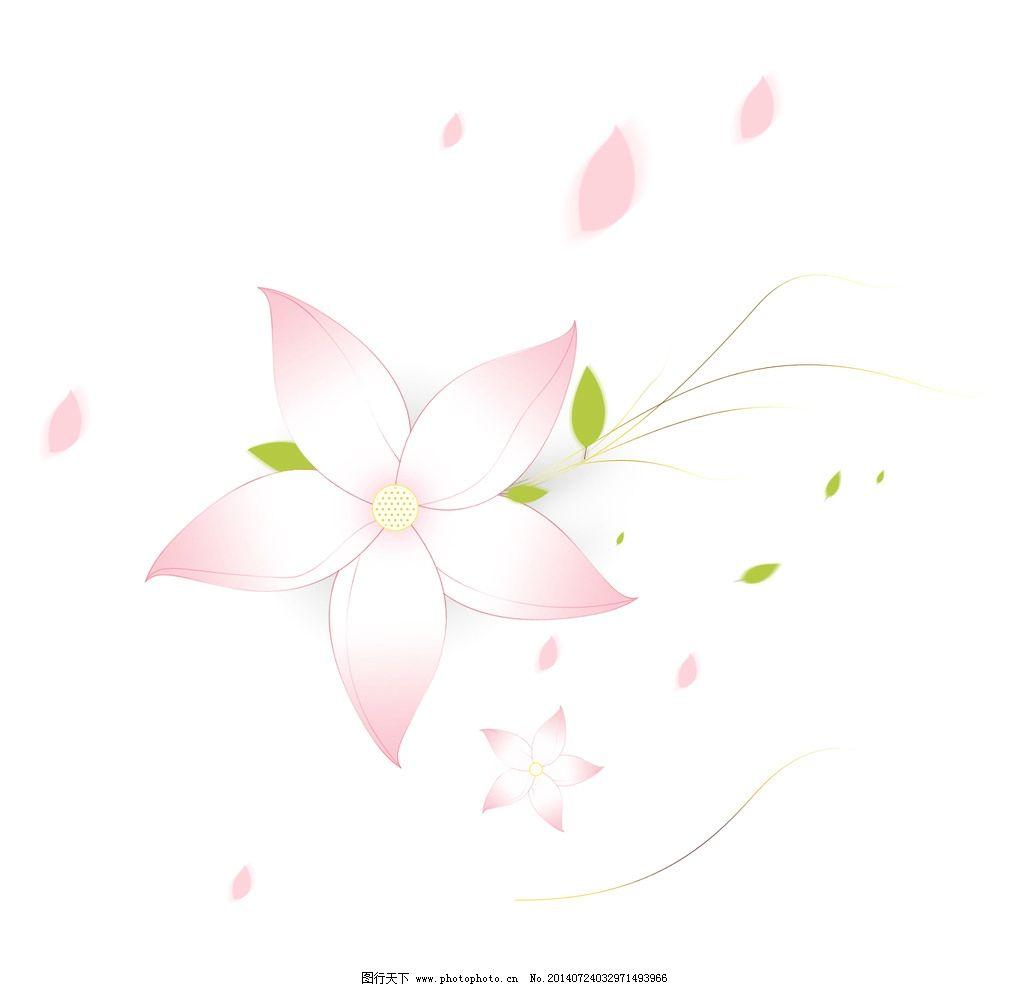 唯美 花瓣 粉色 飘花瓣 手绘 ps 粉色小花 背景素材 psd分层素材 设计