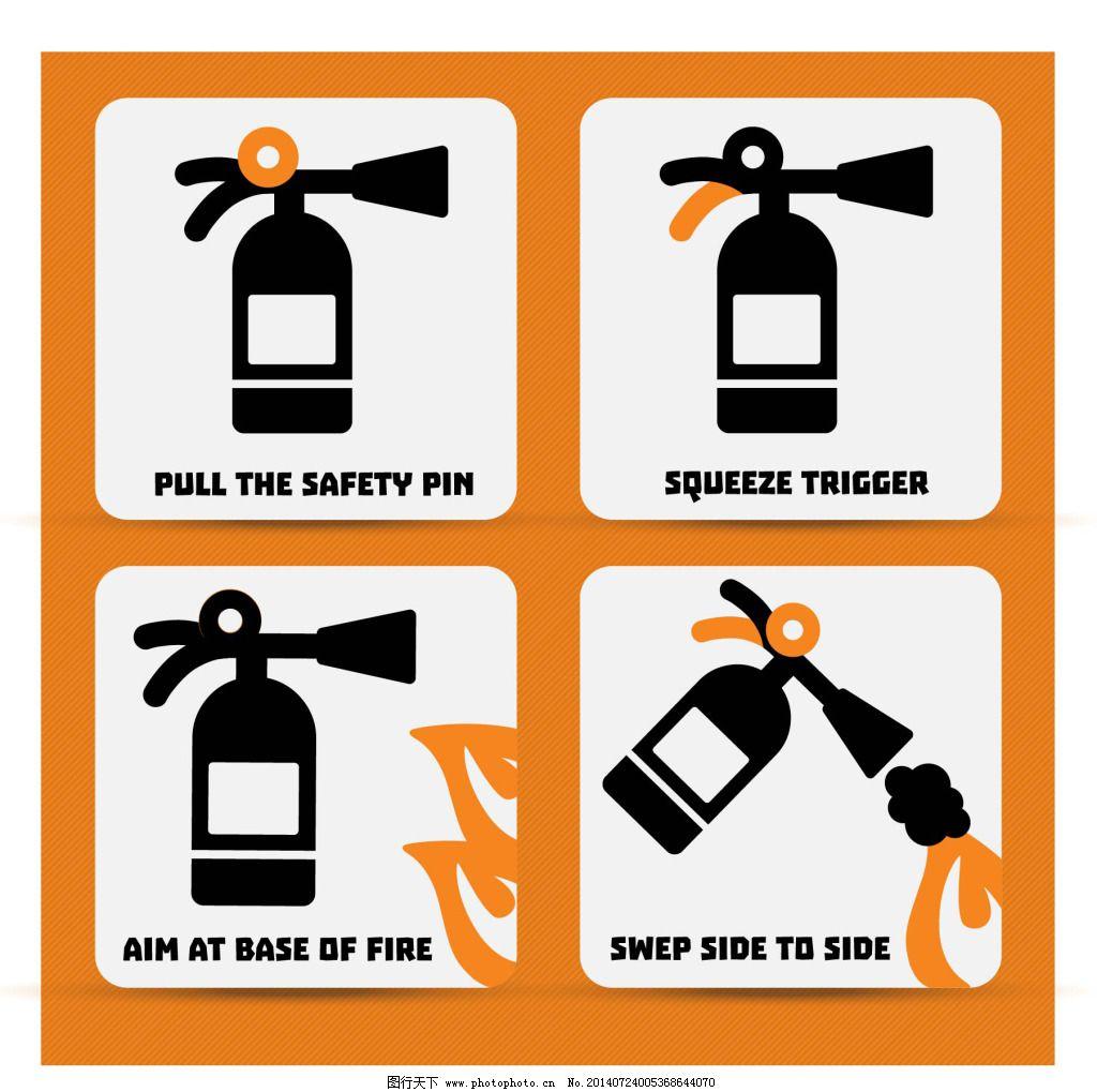 灭火器使用步骤图