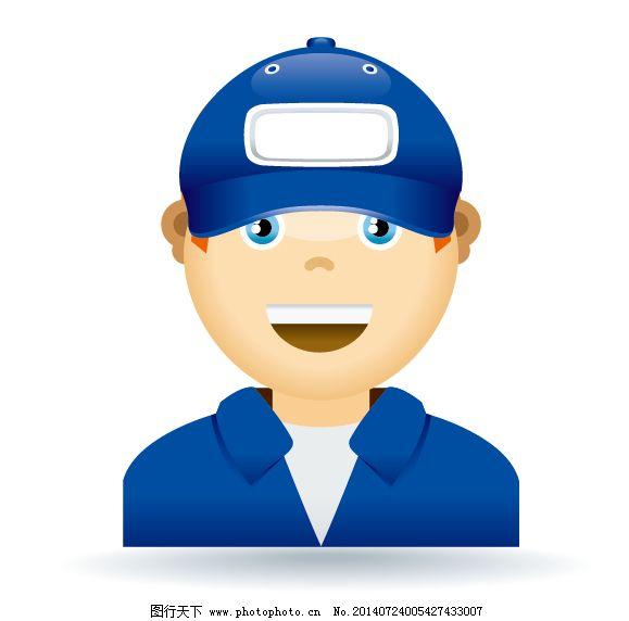 卡通人免费下载 工人 经理 快递员 工人 快递员 经理 矢量图 矢量人物图片