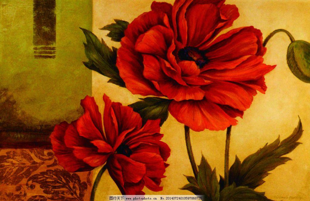 大紅花 大紅花免費下載 美術 牡丹 水彩 素描 油畫 裝飾素材