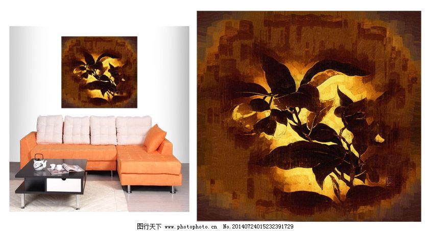 家居室内装饰画茶花图片
