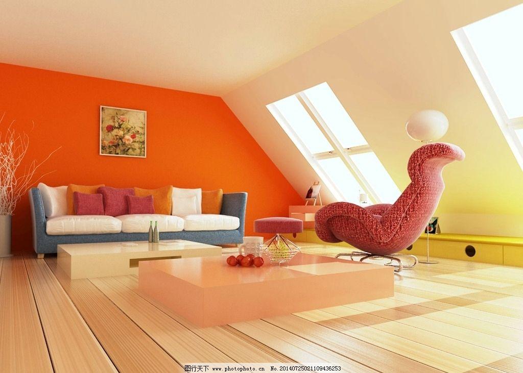 简约时尚3d室内效果图图片