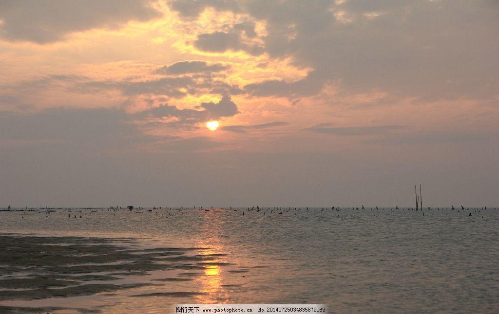 徐闻珊瑚礁国家级保护 广东 自然保护区 夕阳西下 自然风景 自然景观