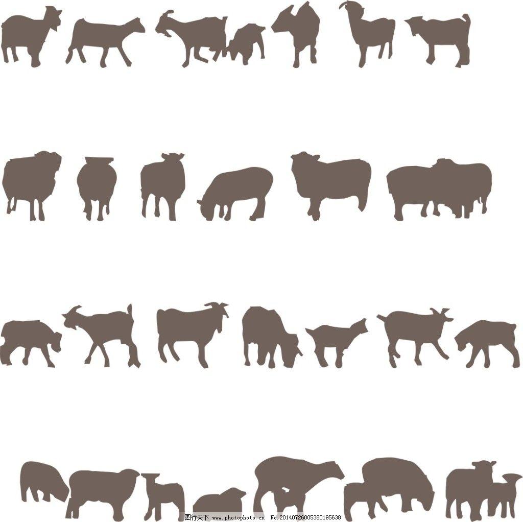 动物剪影免费下载 动物 黑白 剪影 动物 剪影 黑白 矢量图 广告设计