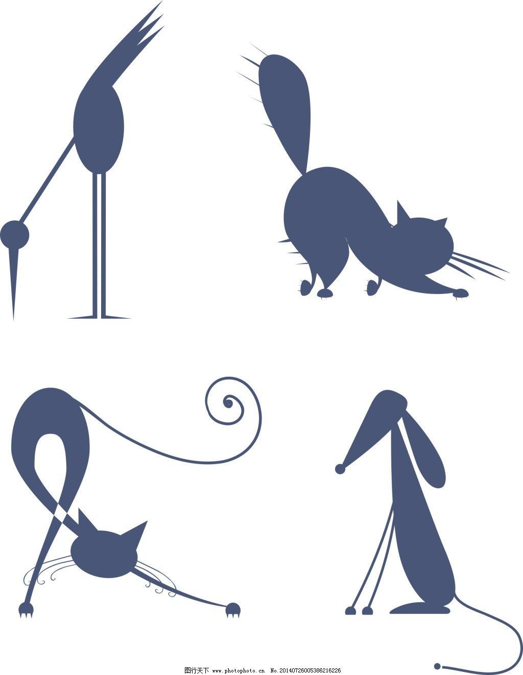 动物剪影免费下载 动物 剪影 鸟 动物 剪影 鸟 矢量图 广告设计