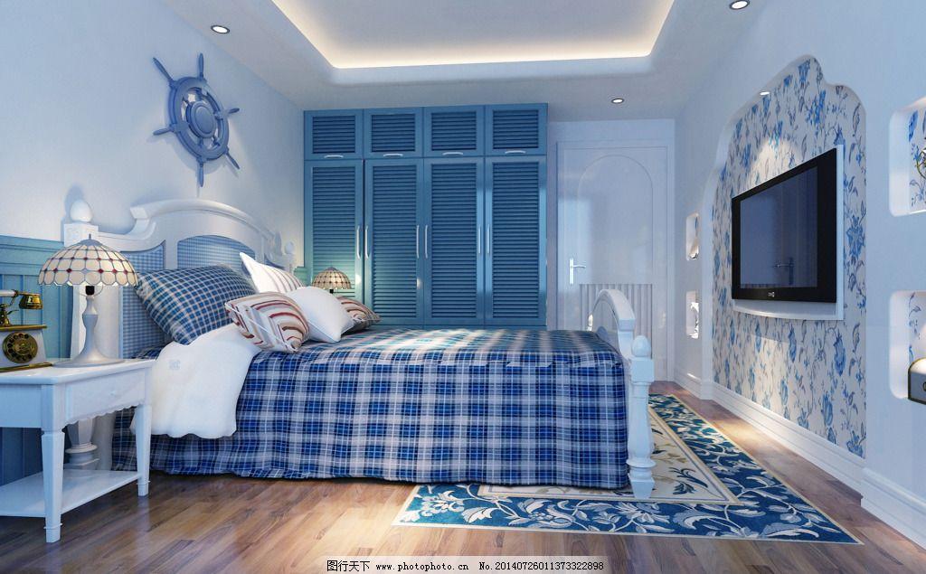 地中海卧室免费下载 参考 设计 设计素材 室内设计 素材 参考 设计图片