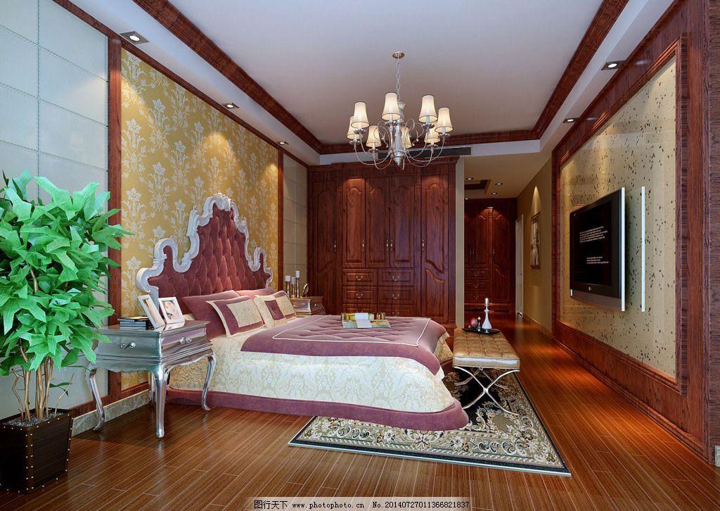 卧室免费下载 壁纸 中式 装修 壁纸 中式 装修 家居装饰素材 室内设计