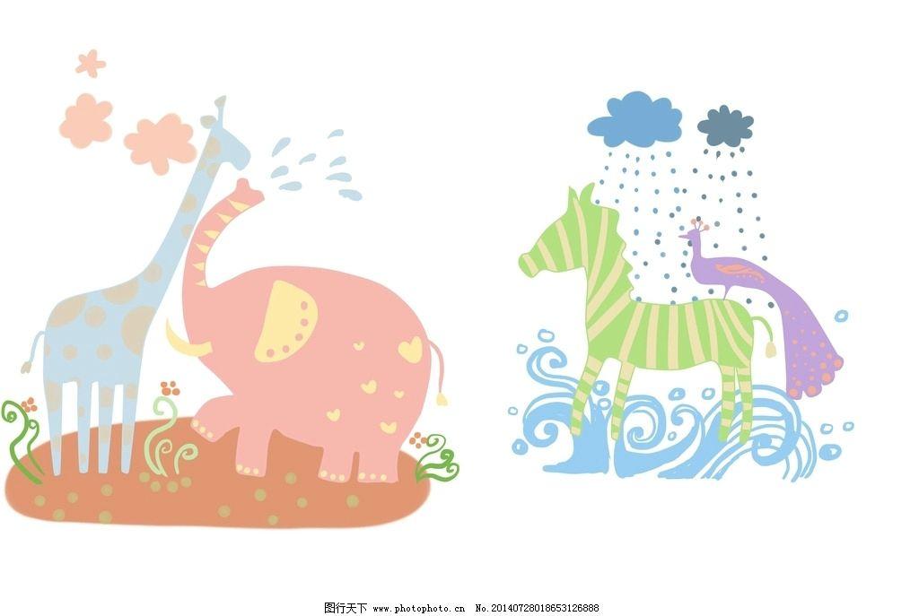 可爱小动物运动会图片