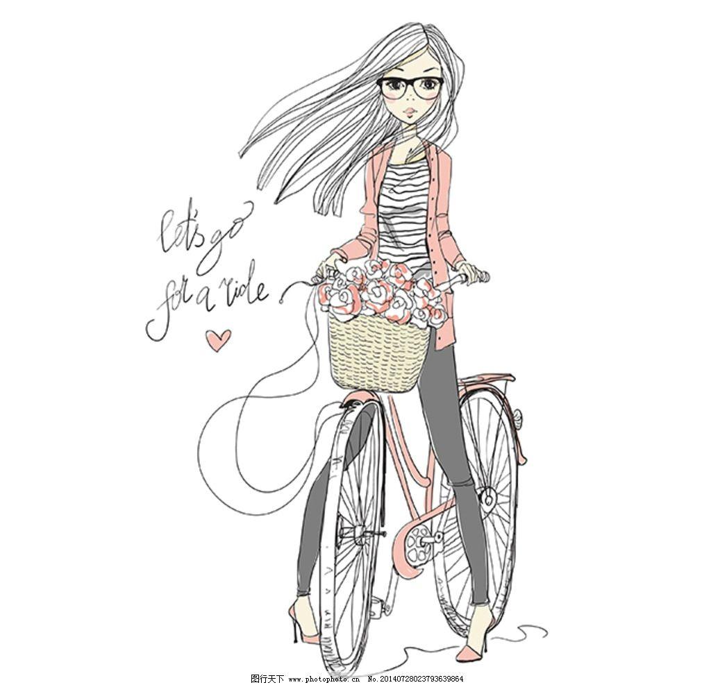 插图 插画 卡通 时尚 时尚美女 时尚女孩 可爱 服饰 时尚服饰 服装