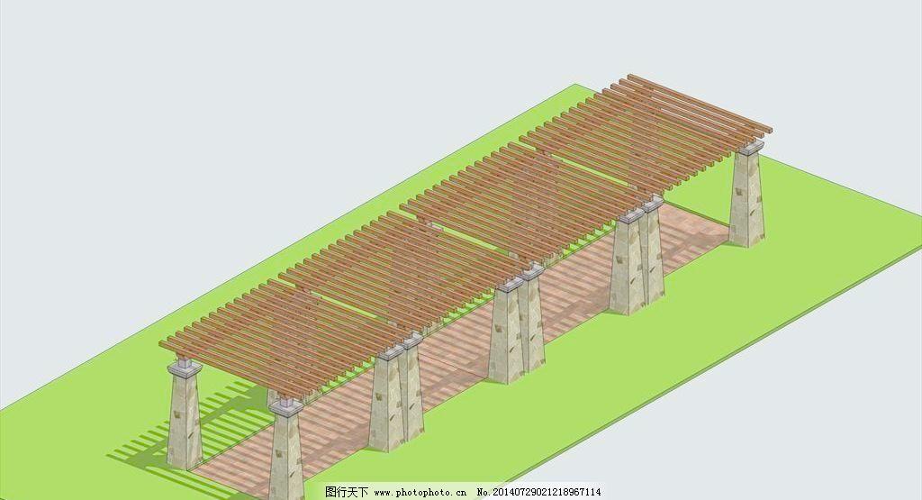 欧式廊架su模型免费下载 花园 廊架 欧式 庭院 花园 庭院 廊架 欧式