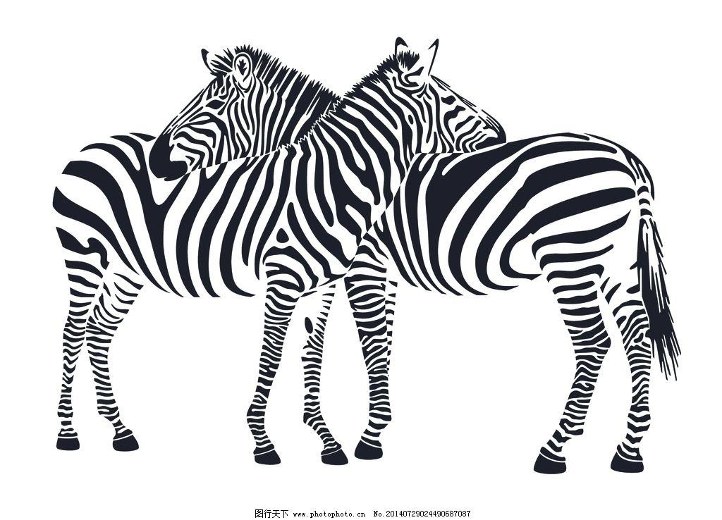 斑马 硅藻泥矢量图 背景 动物 卡通 野生动物 生物世界 设计 cdr