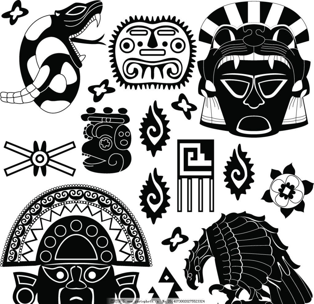 玛雅纹身图片