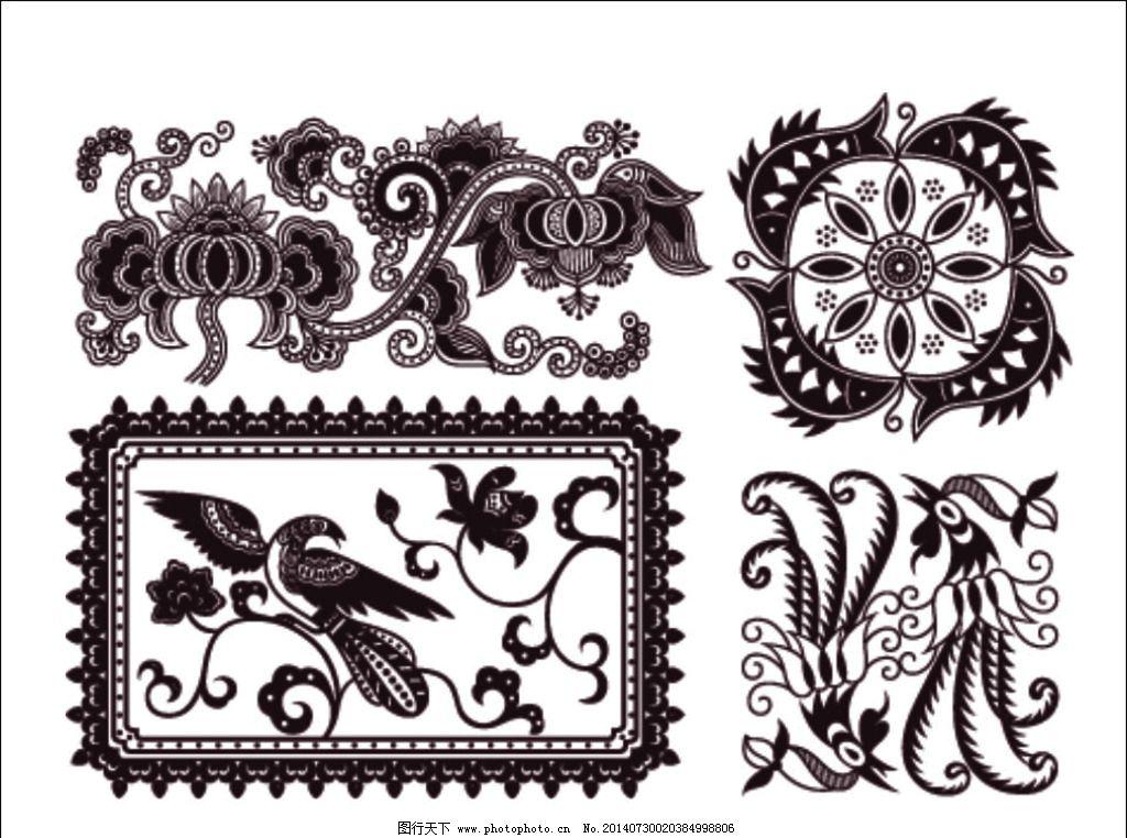 时尚花纹花边图片 花纹花边 欧式 古典 花纹 花边 动物 图形 花朵