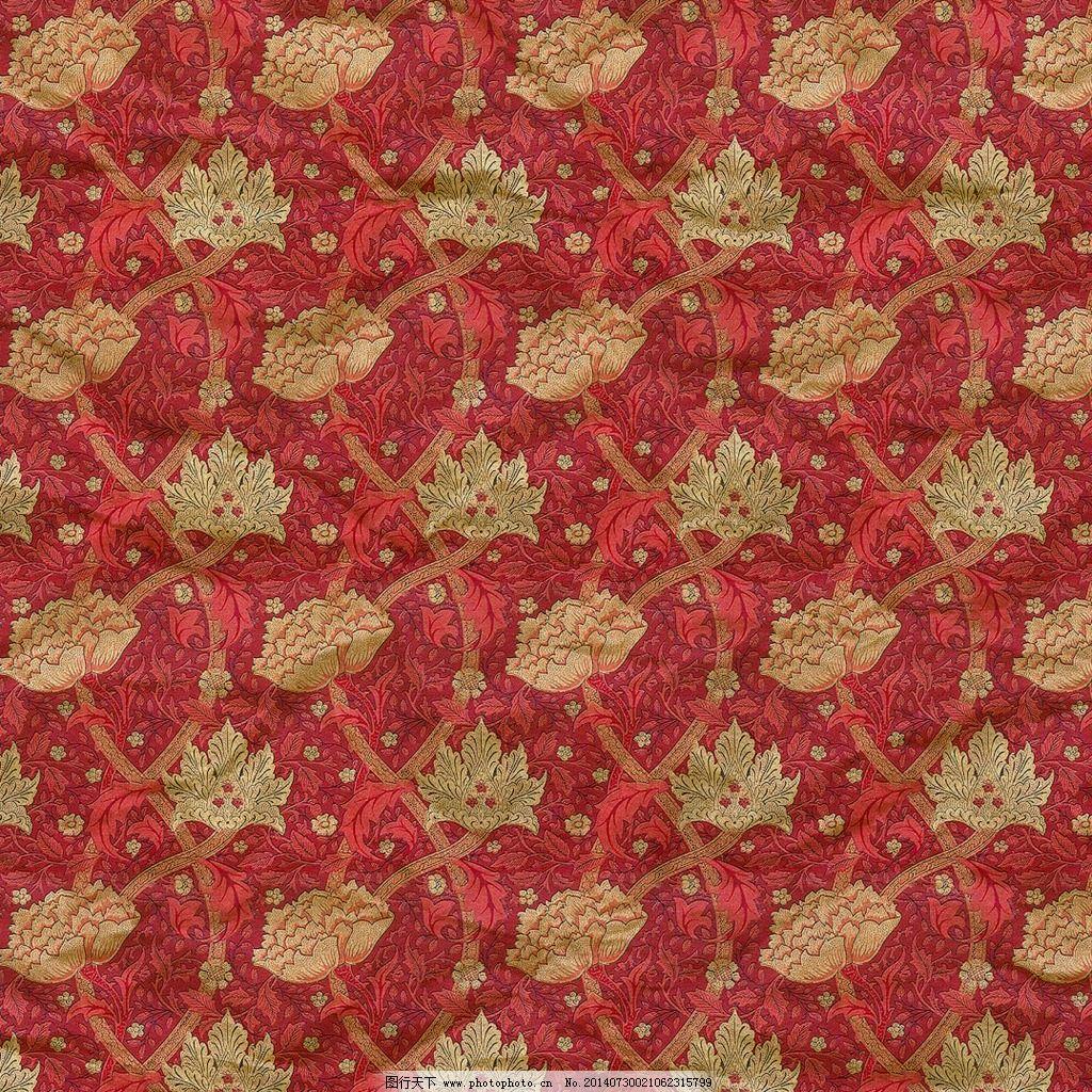 高清欧式深红色花纹复古底纹背景素材