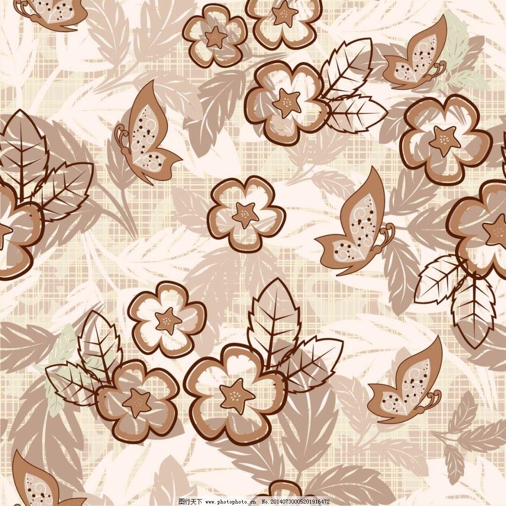 古典花朵背景免费下载