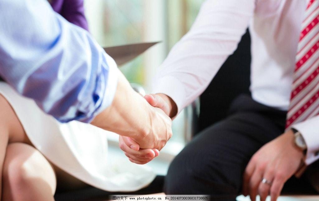人物 职场/商务职场人物握手瞬间图片