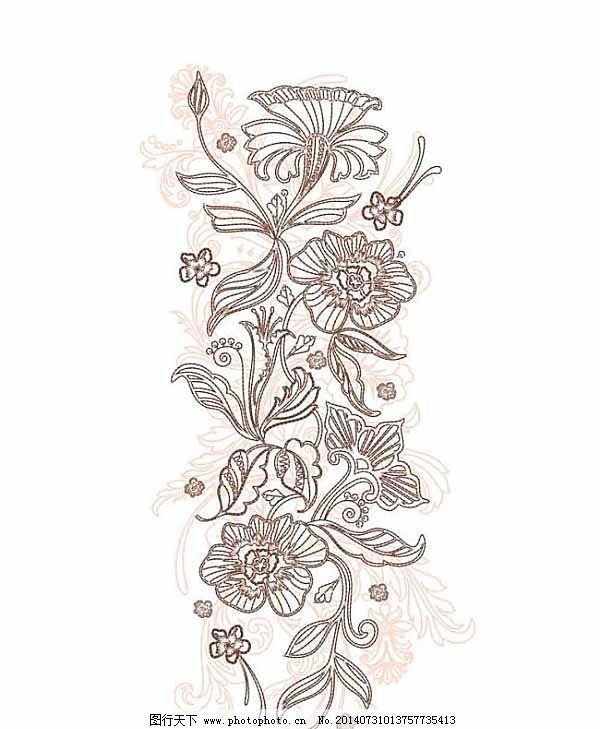 时尚服装绣花图案设计图片